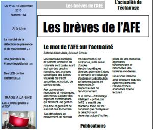 Les Brèves de l'AFE n° 114