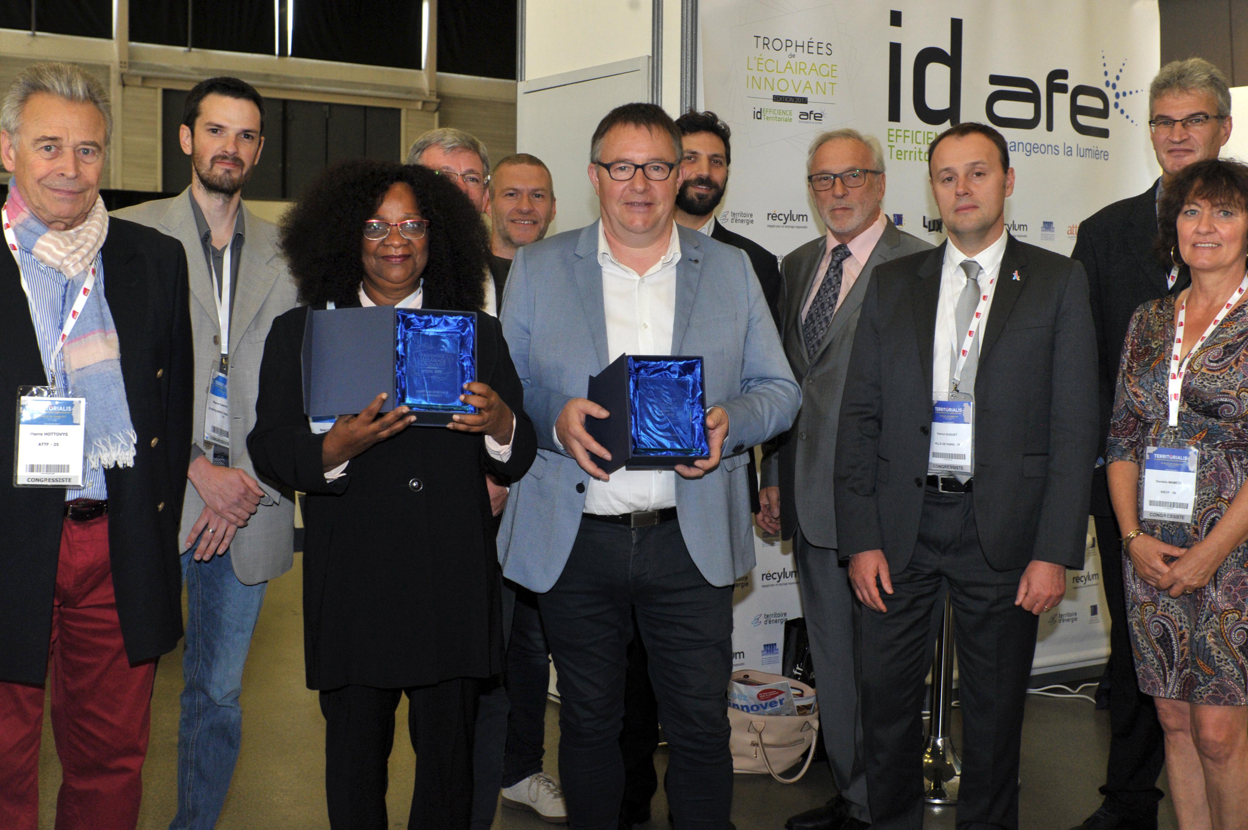 Les lauréats de la 2e édition des Trophées de l'éclairage innovant AFE / ID