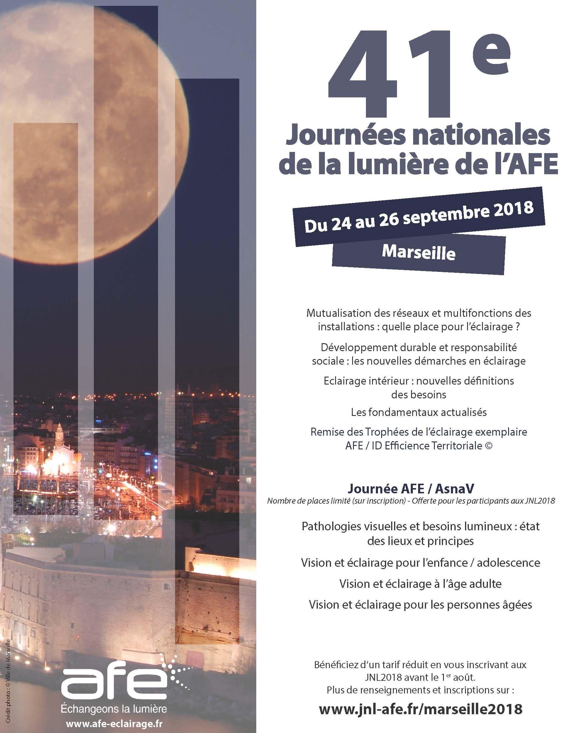 41e Journées nationales de la lumière de l'AFE